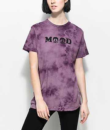 Gnarly Mood camiseta morada con efecto tie dye