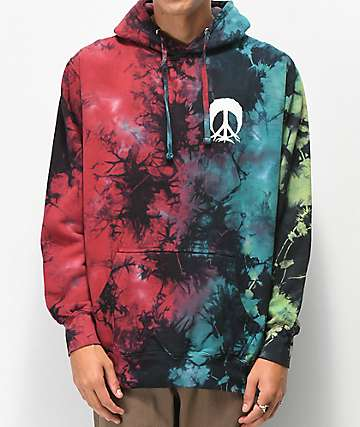Gnarly Oil Spill Tie Dye Hoodie