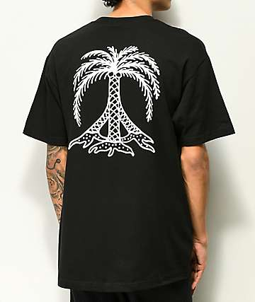 Gnarly Peace Palm Black T-Shirt