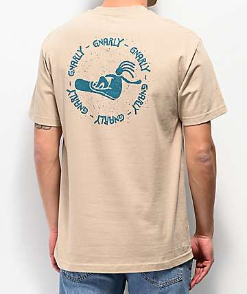 Gnarly Poke Khaki T-Shirt