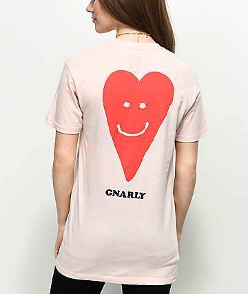 Gnarly Proddi Heart Pink T-Shirt