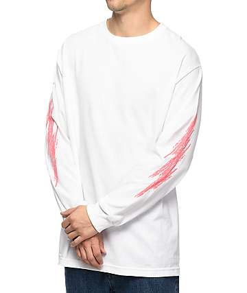 Gnarly Refreshing White Long Sleeve T-Shirt