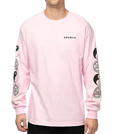 Gnarly Tubular Pink Long Sleeve T-Shirt