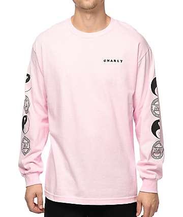 Gnarly Tubular camiseta rosa de manga larga