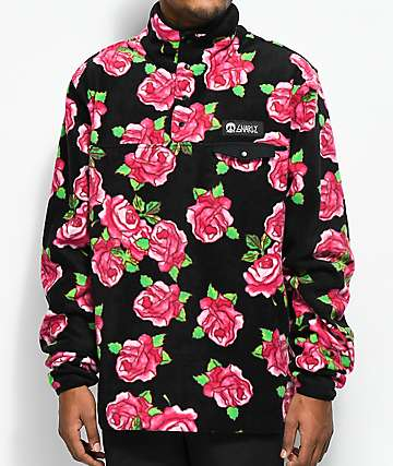 Gnarly Vagabond Rose Fleece Crew Neck Sweatshirt