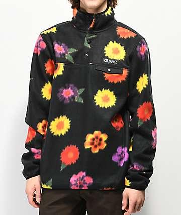 Gnarly Vagabond sudadera de polar con estampado floral