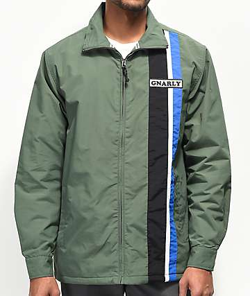 Gnarly Warp Forest Green Jacket