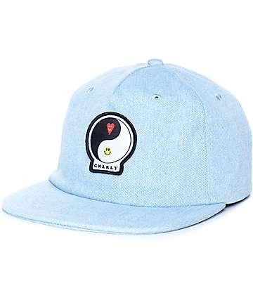 Gnarly Ying Yang Denim Strapback Hat