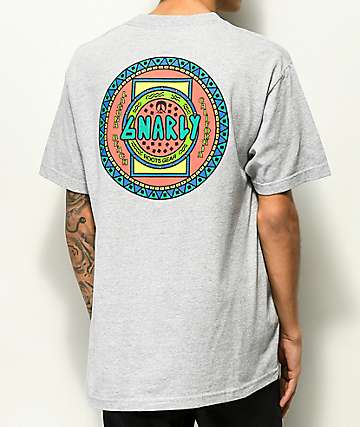 Gnarly x Roots Gear Tribe Ash Grey T-Shirt