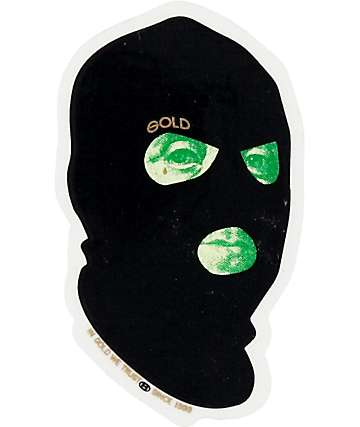 Gold Bad Money Sticker