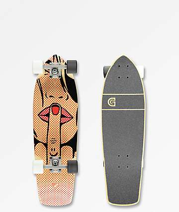 "Gold Coast Fatale Pixel 28"" Cruiser Complete Skateboard"