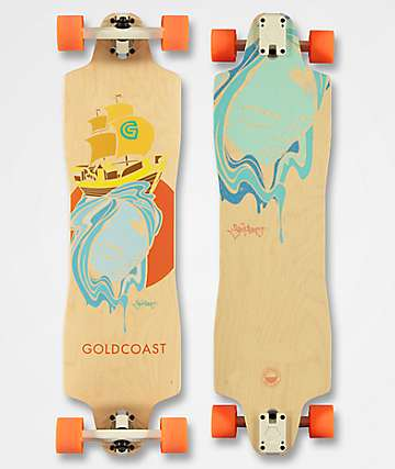 "Gold Coast Flores 1 38"" Drop Through longboard completo"