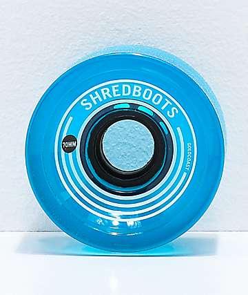 Gold Coast Shred Boots  70mm 85a ruedas de skate azules