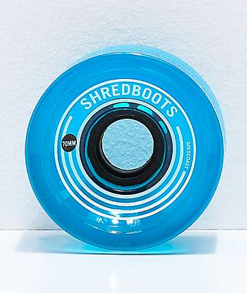 Gold Coast Shred Boots Crystal Blue 70mm 85a Longboard Wheels
