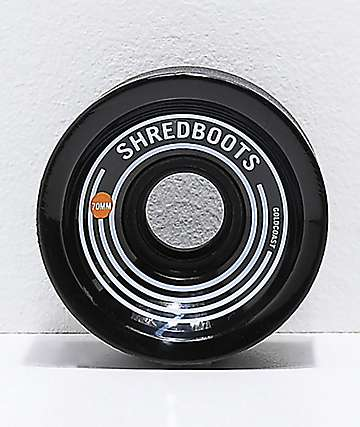 Gold Coast Shred Boots Jet Black 70mm 85a Longboard Wheels