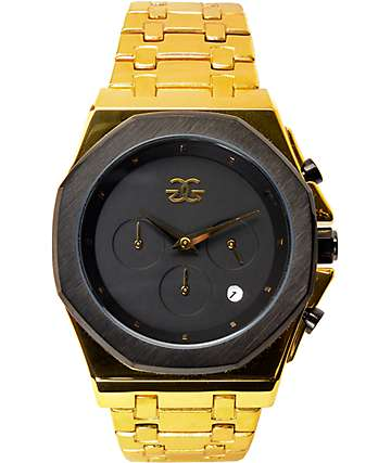 Gold Gods Octavious Chrono Gold & Black Watch