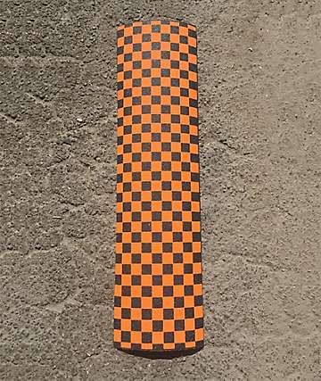 Goodwood Checkered Black & Orange Grip Tape