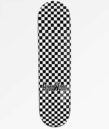 "Goodwood Checkered Black 8.25"" Skateboard Deck"