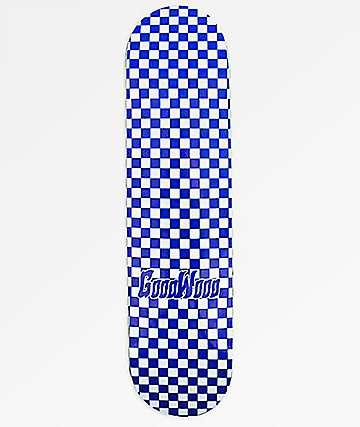"""Goodwood Checkered Blue 8.25"""" Skateboard Deck"""