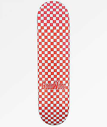 "Goodwood Checkered Red 7.75"" Skateboard Deck"