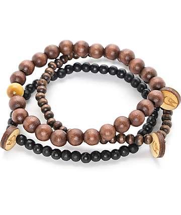 Goodwood NYC Ursa Minor 3 Pack Brown Bracelets