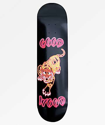 "Goodwood Neon Tiger Black 8.0"" Skateboard Deck"