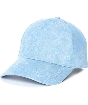 Gorra béisbol en lavado azul