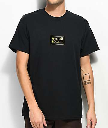 Gosha x Mumiy Troll Script Black T-Shirt
