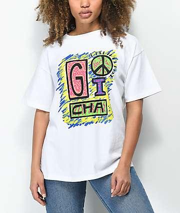 Gotcha Peace White T-Shirt