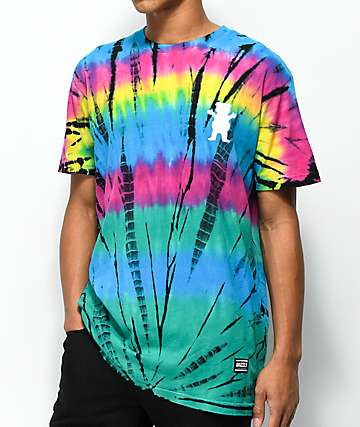 Grizzly Above The Clouds Tie Dye T-Shirt