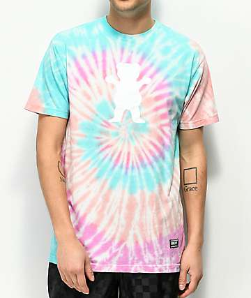 Grizzly Bear Logo Tie Dye T-Shirt