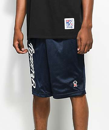 Grizzly Behind The Arc Mesh Navy Shorts