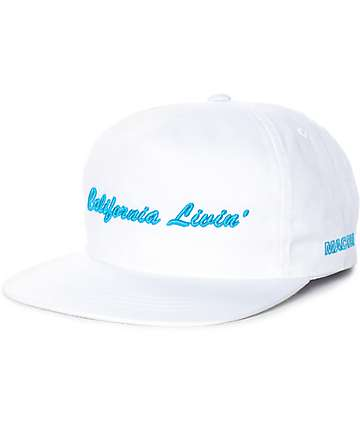 Grizzly California Livin White Snapback Hat