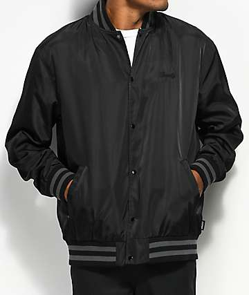 Grizzly Clemente Softball Black Coaches Jacket