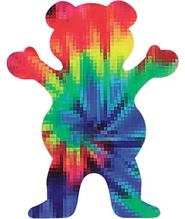 Grizzly Digi Tie Dye OG Bear Sticker