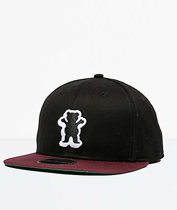 Grizzly Dimensional OG Bear Black Snapback Hat