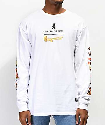 Grizzly Fungus Enthusiasts White Long Sleeve T-Shirt