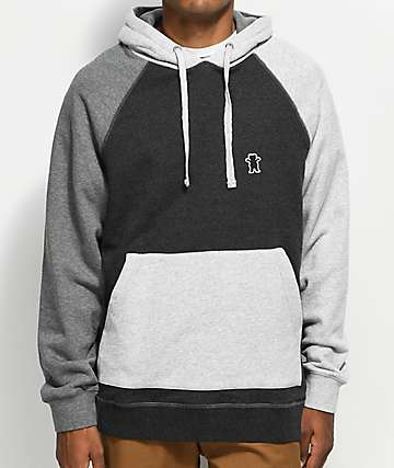 Grizzly Great Falls Charcoal & Light Grey Hoodie