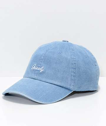 Grizzly Late To The Game Denim Strapback Hat