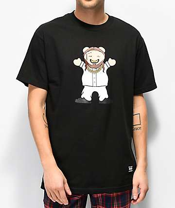 Grizzly Lil M Black T-Shirt