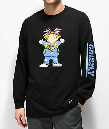 Grizzly Lil P Black Long Sleeve T-Shirt