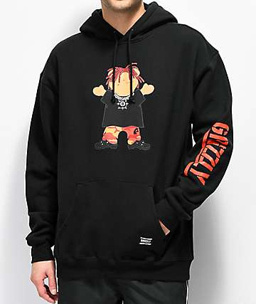 Grizzly Lil Red Black Hoodie
