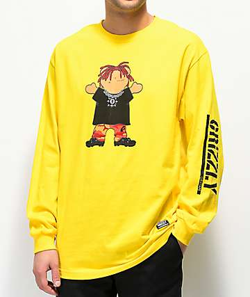 Grizzly Lil Red Yellow Long Sleeve T-Shirt