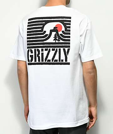 Grizzly Long Daze White T-Shirt