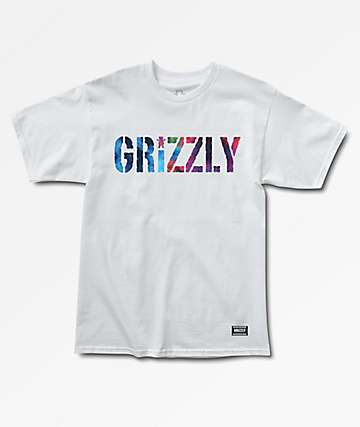 Grizzly Nice Trip Stamp White T-Shirt