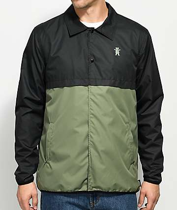 Grizzly Night Tail Black & Camo Coaches Jacket