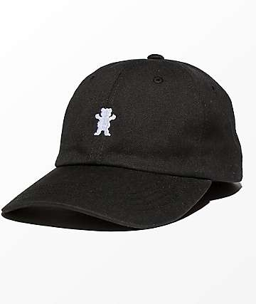 Grizzly OG Bear Logo Black Dad Hat