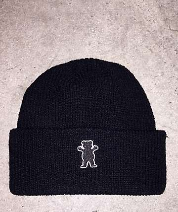 Grizzly OG Bear Patch Black Beanie