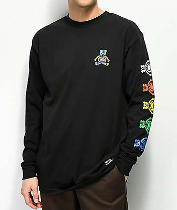Grizzly Primary Bear Black Long Sleeve T-Shirt