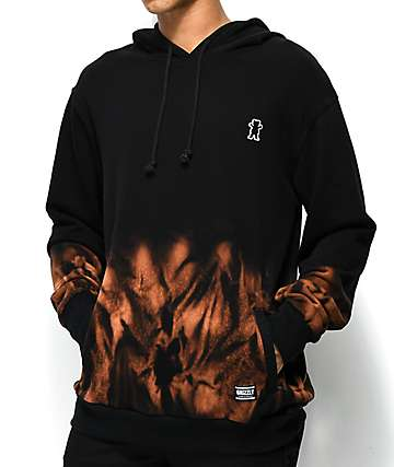 Grizzly Sierra Black & Brown Washed Hoodie
